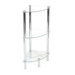 Regał do łazienki szklany rogowy
