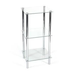 Regał łazienkowy szklany