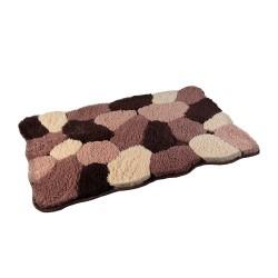 Dywanik łazienkowy 80 x 50 cm brązowy