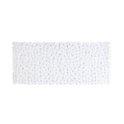 Mata łazienkowa antypoślizgowa kamienie biała