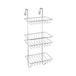 Półka zawieszana na kabinę prysznicową 3-poziomowa