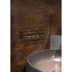 Półka łazienkowa złoto antyczne prostokątna