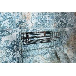 Półka łazienkowa miedź antyczna prostokątna